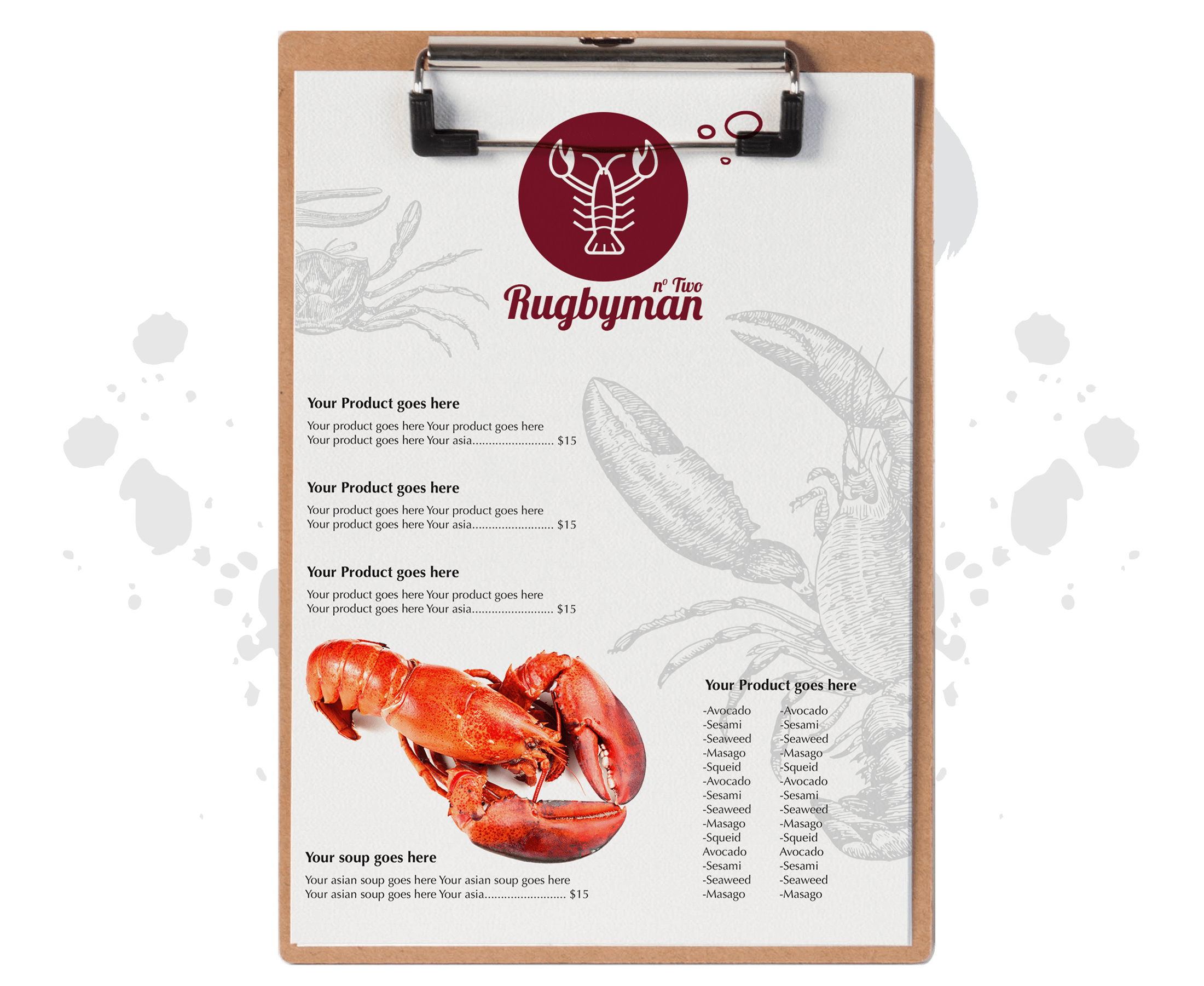 Rugbyman two-menu
